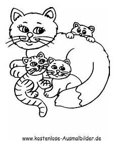 Malvorlagen Kostenlos Tiere Katzen Ausmalbild Katzenfamilie Zum Ausdrucken