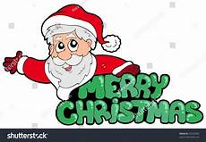 merry christmas sign with santa vector illustration 60705394