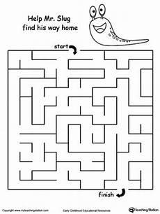 motor skills maze worksheets 20676 slug maze word families maze worksheet maze