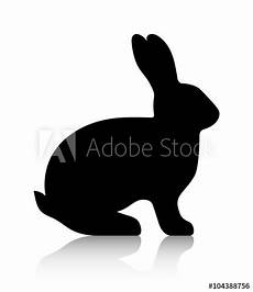Malvorlage Hase Seitlich Quot Black Silhouette Of A Rabbit Vector Graphics Quot Stock