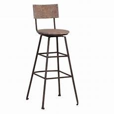 chaise de bar en bois recycl 233 et m 233 tal