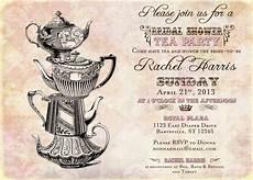 Vintage Tea Wedding Invitations