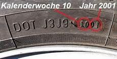 Alter Reifen - dot nummer wie genau erkannt das reifenalter