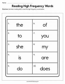 reading high frequency words worksheet have fun teaching