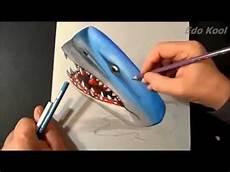 Cara Membuat Gambar Hiu 3 Dimensi Menggunakan Pensil
