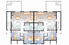 4 plex house plans fab 4 plex house plan 22346dr architectural designs
