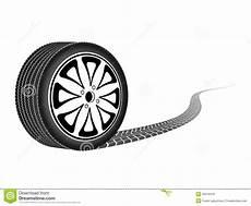 roue de voiture dessin roue d automobile partant d une trace illustration de vecteur image 50016418