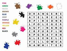 colors crossword worksheets 12726 word search for learn vocabulary study colors stock vector illustration of