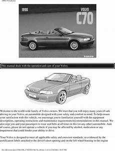 how to download repair manuals 2012 volvo c70 security system 98 volvo c70 convertible 1998 owners manual download manuals