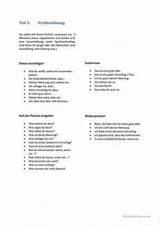 praktische prüfung tipps b2 redemittel m 252 ndliche pr 252 fung diskussion als fremdsprache learn german german