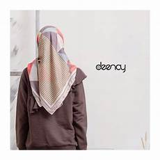 Jual Printing Jilbab Segi Empat Deenay Triangle Di