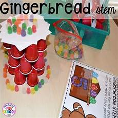 gingerbread centers and activities for gingerbread week freebies kindergarten stem and