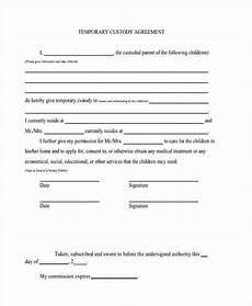temporary guardianship agreement form custody agreement