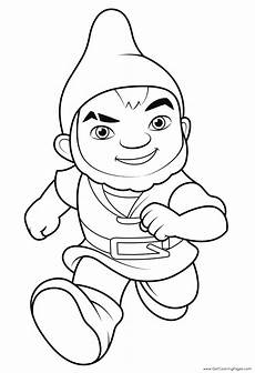 gnomeo from sherlock gnomes colouring page get coloring