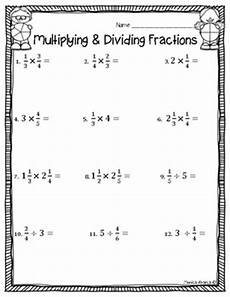 multiplying and dividing fractions test worksheet by abarca