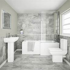 Bathroom Suite Ideas Edge Modern Shower Bath Suite From Plumbing Co Uk