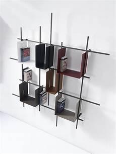 libreria immagini libreria a parete moderna libra2 in acciaio tubolare