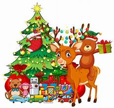 theme with reindeer and tree
