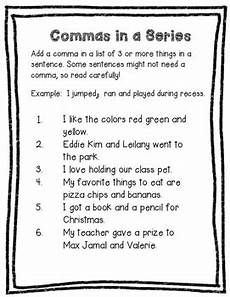 commas in a series worksheet by valnt teachers pay teachers
