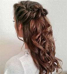 31 half up half down hairstyles for bridesmaids braided