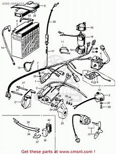 Honda Sl350 Motosport 1969 K0 Usa Wire Harness Battery