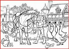 ausmalbilder vorlagen bauernhof ausmalbild bauernhof pferde pferd rooms project rooms
