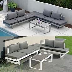 gartenmöbel aluminium pulverbeschichtet lounge gartenm 246 bel aus pulverbeschichtetem aluminium