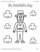 St Patricks Day Coloring Page With A Picture Of