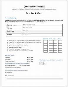 hotel services feedback form template ms word word excel templates
