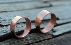 copper wedding band wide copper band ring men eco