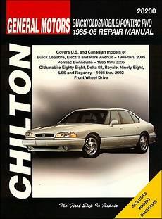 car repair manuals online free 1985 pontiac firefly electronic throttle control buick oldsmobile pontiac fwd repair manual 1985 2005 chilton
