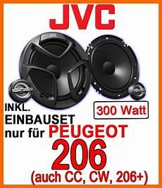peugeot 206 206cc 206sw 206 jvc lautsprecher boxen