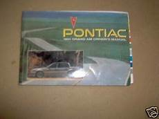 free car manuals to download 1999 pontiac grand prix engine control pontiac grand am gt se owners manual 1991 91 used ebay