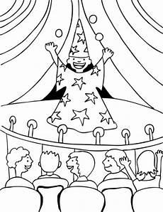 Zauberer Ausmalbilder Kindergarten Kostenlose Malvorlage Berufe Magier Bei Einer Zaubershow