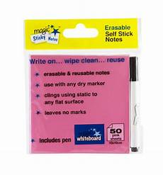 magic whiteboard sticky notes pad pink 50 sheets 4 x4 portable dry magic whiteboard products