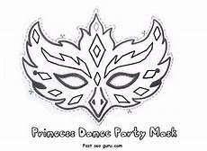 printable princess mask cutouts coloring in