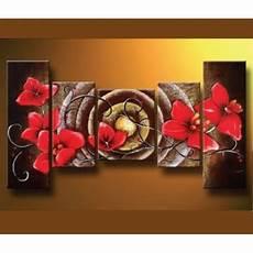tableau peinture acrylique fleurs sur toile achat vente