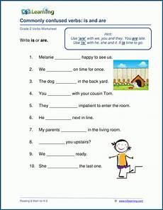 grade 2 verbs worksheets k5 learning