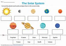 solar system planets for worksheet the eight planets cut and paste science worksheets