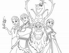 Kumpulan Gambar Mewarnai Frozen Untuk Tk Dan Sd