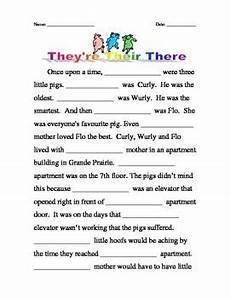 homophones their there they re three little pigs