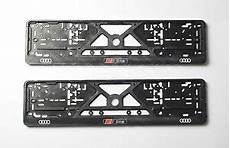 s line logo audi license plate plates frame euro for s3 s4 s6 s5 s6 holders ebay