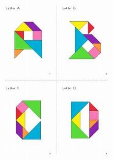 tangram kinder malvorlagen word tangram alphabet letters puzzle cards math mats by