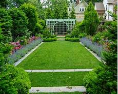 The Formal Rectangular Lawn Anchors The Viewing Garden