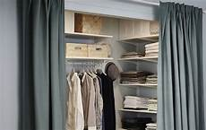 a walk in closet in a tricky space ikea