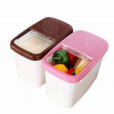 Bakeey Rice Barrel 10kg Green Food by Kitchen Large Box Organizer Thick Rice Barrel Plastic Rice