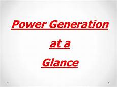 power generation at a glance