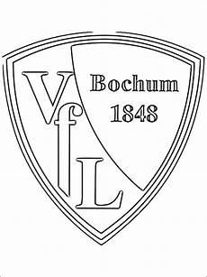 kolorowanka z logo klubu vfl bochum kolorowanki dla dzieci