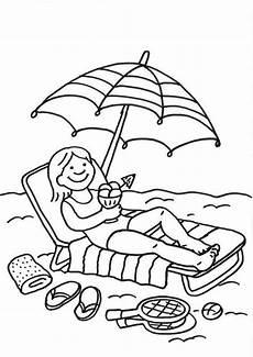 Gratis Malvorlagen Urlaub Ausmalbild Sommer Eisessen Am Strand Kostenlos Ausdrucken