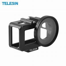 Telesin B001 Protective Frame Shell by Telesin Protective Aluminum Frame With Uv Filter For